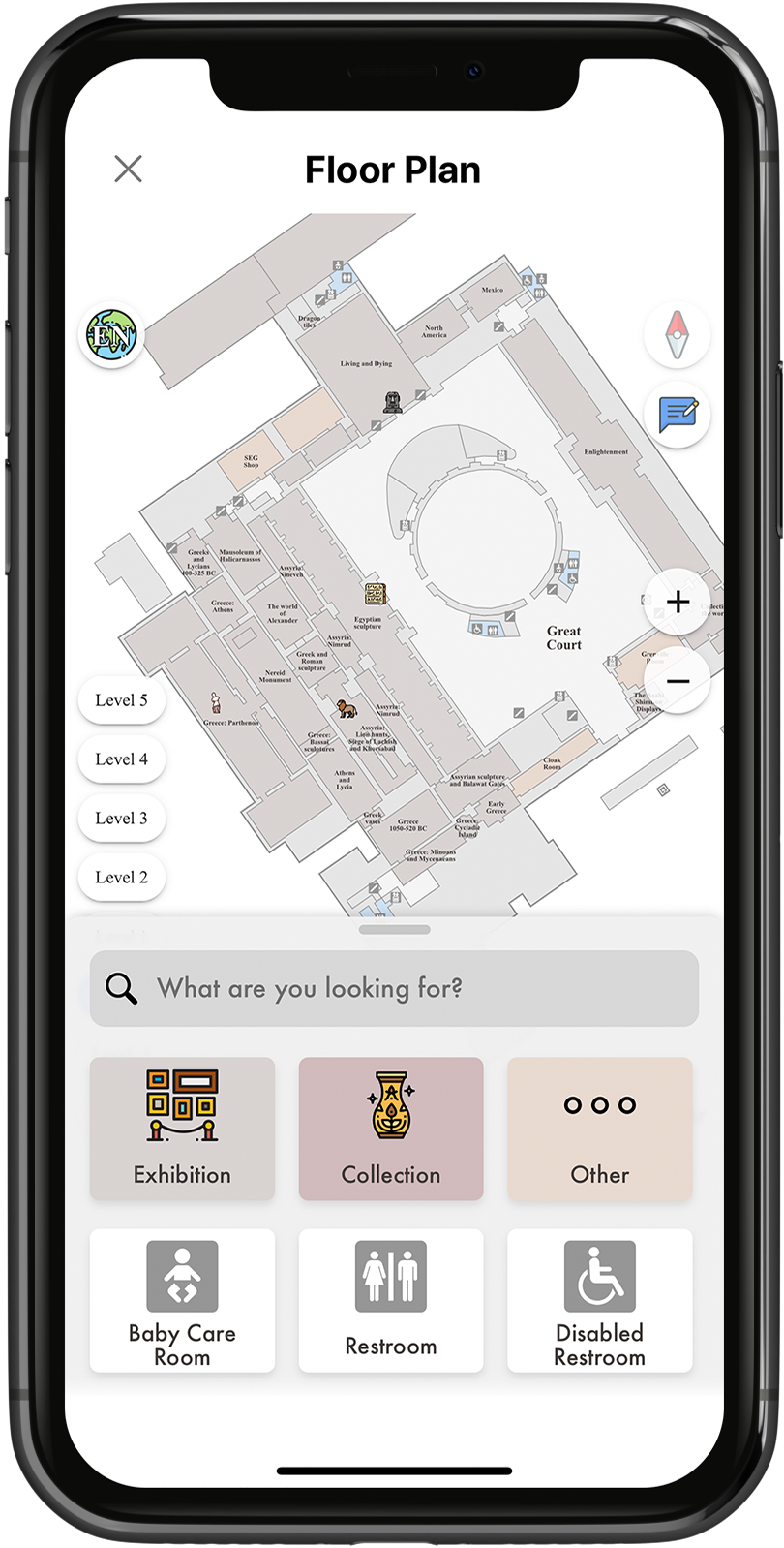 Use interactive floor plans to guide you through Britain's most prominent museums